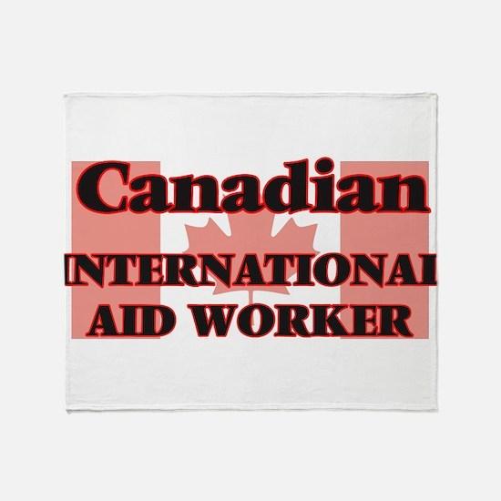 Canadian International Aid Worker Throw Blanket