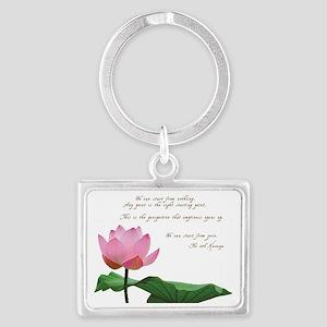 17th Karmapa Quote Landscape Keychain