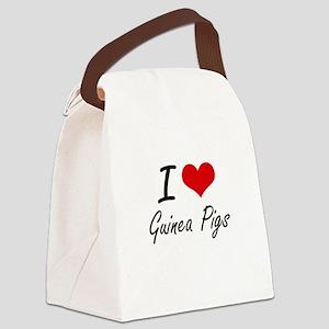 I love Guinea Pigs Artistic Desig Canvas Lunch Bag