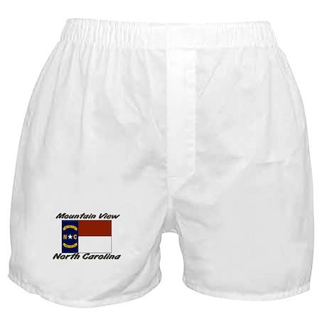 Mountain View North Carolina Boxer Shorts