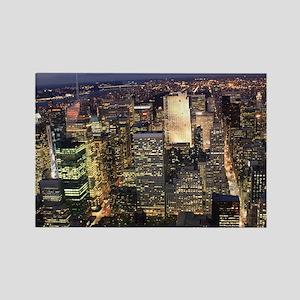 NEW YORK 1 Rectangle Magnet