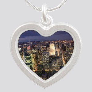 NEW YORK 1 Silver Heart Necklace