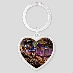 LAS VEGAS 2 Heart Keychain