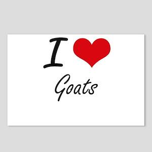 I love Goats Artistic Des Postcards (Package of 8)