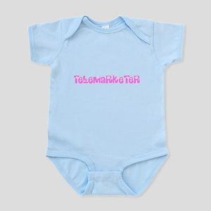 Telemarketer Pink Flower Design Body Suit