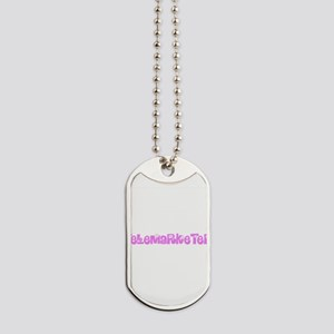 Telemarketer Pink Flower Design Dog Tags