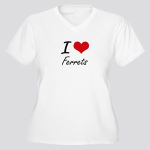 I love Ferrets Artistic Design Plus Size T-Shirt