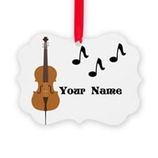 Cello Music Personalized Ornament