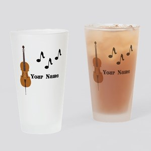 Cello Music Personalized Drinking Glass