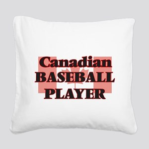 Canadian Baseball Player Square Canvas Pillow