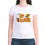Happy HalloWEINER Jr. Ringer T-Shirt
