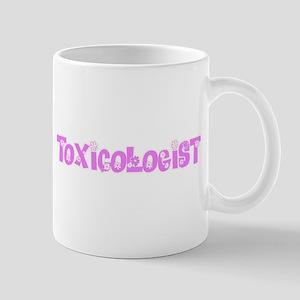 Toxicologist Pink Flower Design Mugs