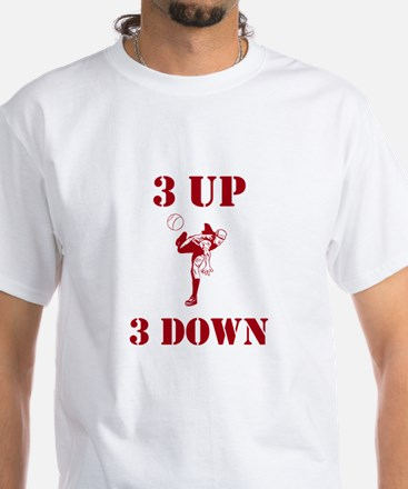 3 Up 3 Down White T-Shirt