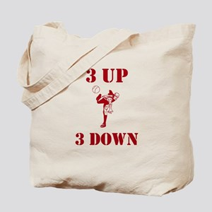3 Up 3 Down Tote Bag