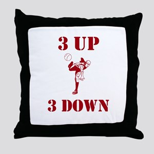 3 Up 3 Down Throw Pillow