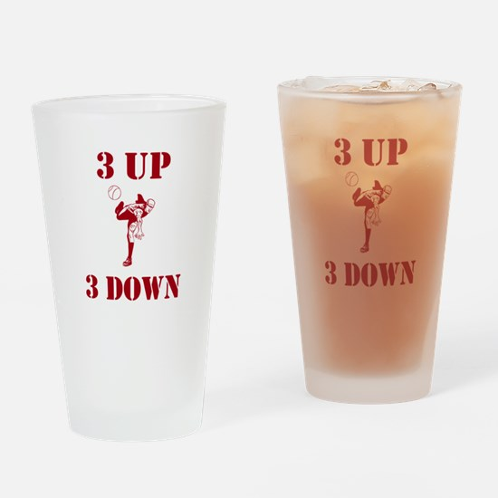 3 Up 3 Down Drinking Glass