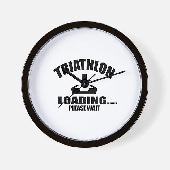 Triathlon Loading Please Wait Wall Clock