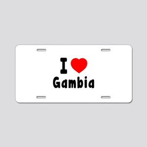 I Love Gambia Aluminum License Plate