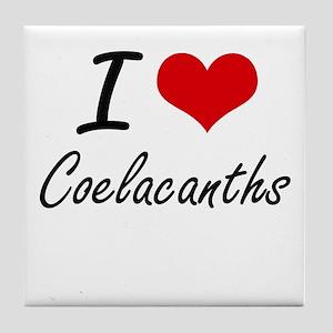 I love Coelacanths Artistic Design Tile Coaster