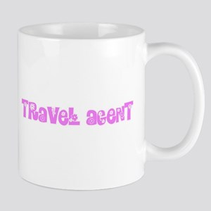 Travel Agent Pink Flower Design Mugs