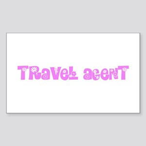 Travel Agent Pink Flower Design Sticker