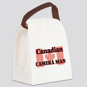 Canadian Camera Man Canvas Lunch Bag