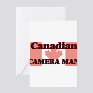 Canadian Camera Man Greeting Cards