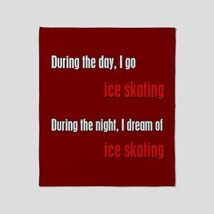I Dream Ice Skating Throw Blanket