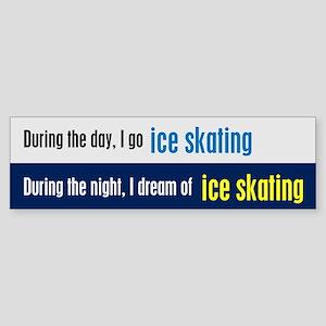 I Dream Ice Skating Sticker (Bumper)
