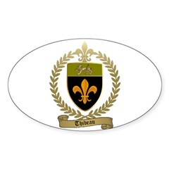 THIBEAU Family Crest Oval Decal
