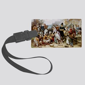first thanksgiving Large Luggage Tag