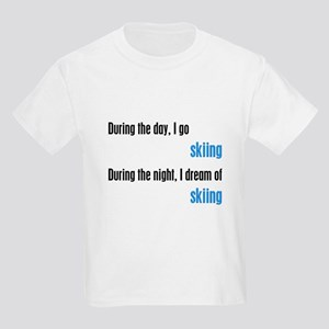 I Dream Skiing Kids Light T-Shirt