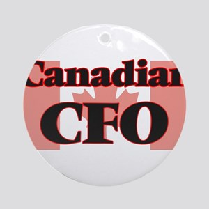 Canadian Cfo Round Ornament