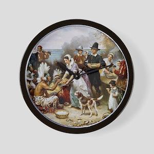 first thanksgiving Wall Clock