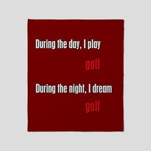 I Dream Golf Throw Blanket