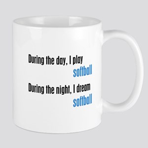 I Dream Softball Mug