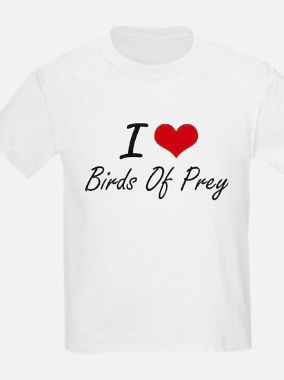 I love Birds Of Prey Artistic Design T-Shirt