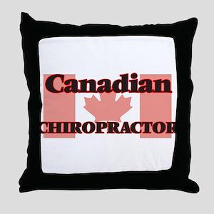 Canadian Chiropractor Throw Pillow