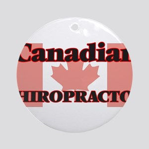 Canadian Chiropractor Round Ornament