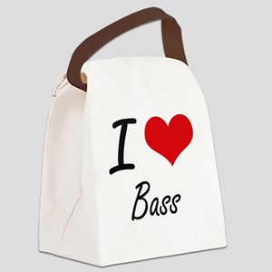 I love Bass Artistic Design Canvas Lunch Bag