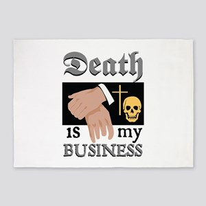 Death My Business 5'x7'Area Rug