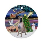 Xmas Magic - Great Dane (D) Ornament (Round)