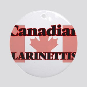 Canadian Clarinettist Round Ornament