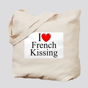 """""""I Love (Heart) French Kissing"""" Tote Bag"""