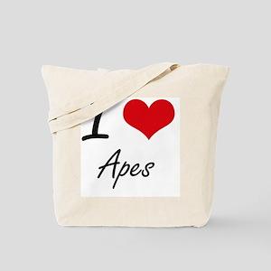 I love Apes Artistic Design Tote Bag