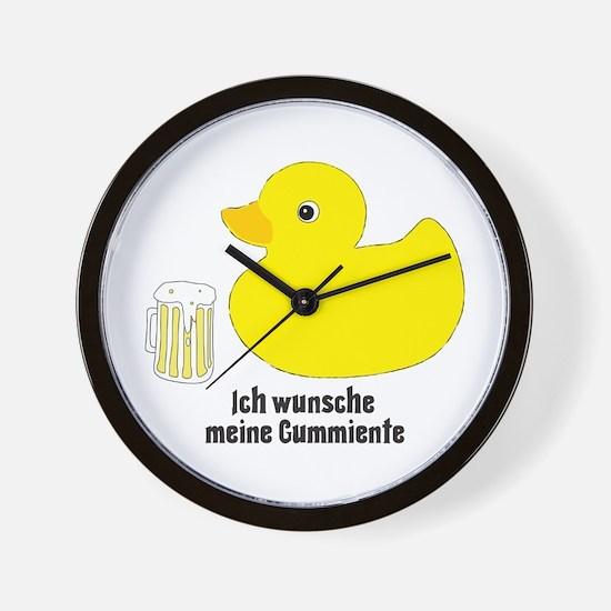 German Rubber Ducky Wall Clock