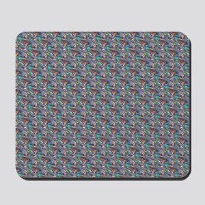 silver metallic Mousepad