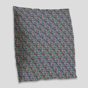silver metallic Burlap Throw Pillow