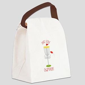 Disc Golf Champion Canvas Lunch Bag