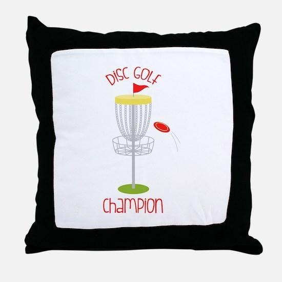 Disc Golf Champion Throw Pillow